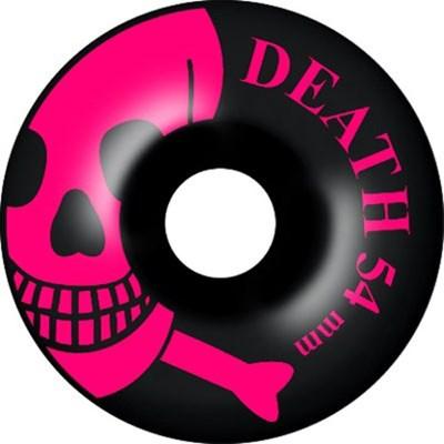 Pink Skulls Black Skateboard Wheels - 54mm