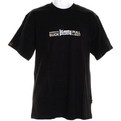 Mondays Suck S/S T-Shirt - Black