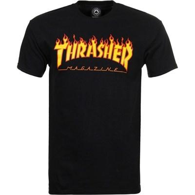 Flame Logo S/S T-Shirt - Black