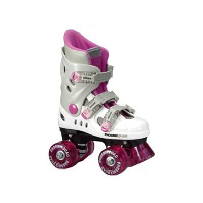 New Phoenix Pink/White Quad Roller Skates