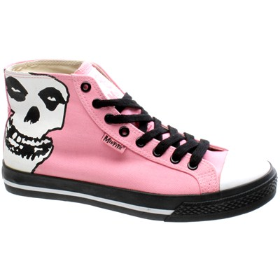 Misfits Face-Off Hi Top Pink Shoe