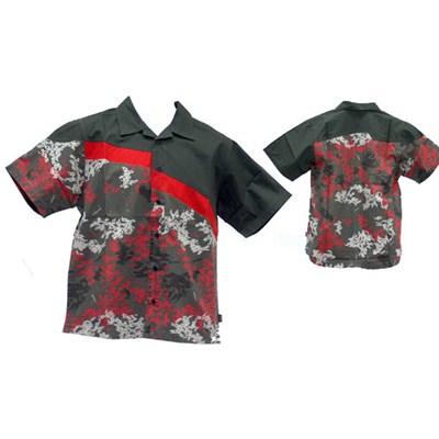 Trial S/S Kids Shirt - Deep Grey