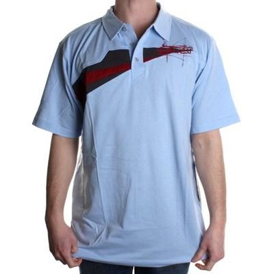 Scoundrel Knit S/S Polo Shirt - Light Blue