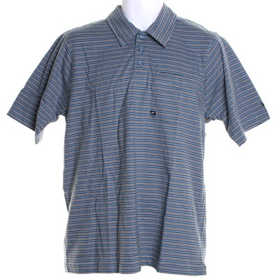 Buttoned-Up S/S Polo Shirt - Smoke Blue