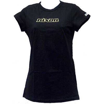 Nixon Capped Girls S/S Tee - Black