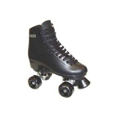BFP Black Leather Quad Roller Skates
