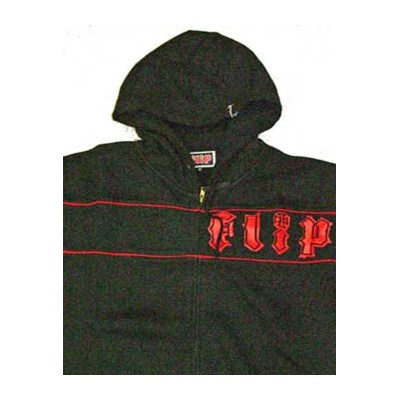 Red Stripe Zip Hood
