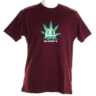 I'm Loving It S/S T-Shirt - Maroon