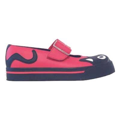 Mary Jane Kitty Red/Black Girls Shoe