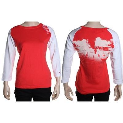 El Medano Girls L/S Tee - Hibiscus Red
