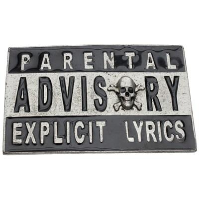 Parental Advisory - Explicit Content Buckle
