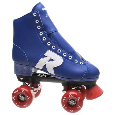 52 Star Vinyl Blue Quad Roller Skates