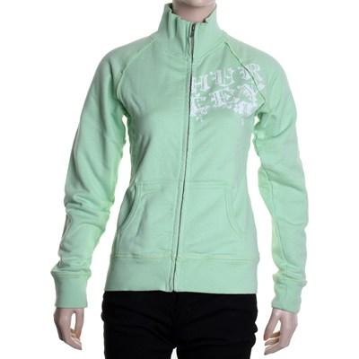 Wanna Rock Girls Zip Fleece Track Jacket - Lime Green
