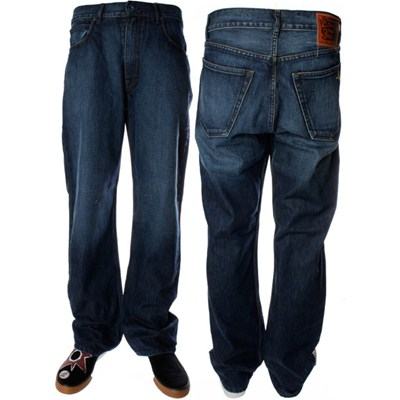 Black Zip Rinse with Brush Wash Jeans