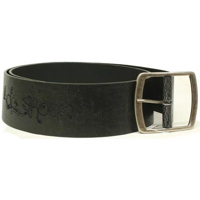 Sandy Leather Belt - Raven