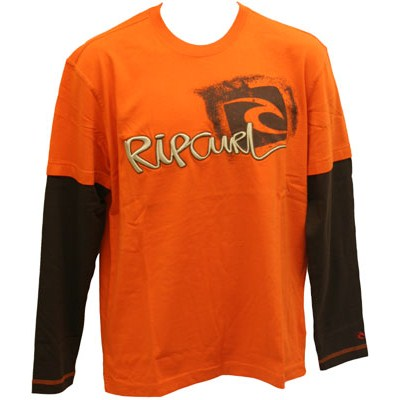 Crantock L/S T-Shirt - Spicy Orange