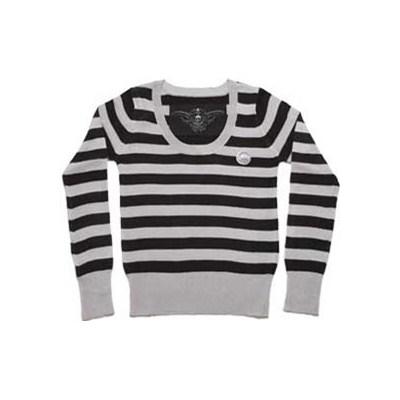 Ingrid L/S Stripe Girls Knit Top