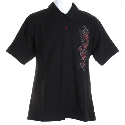 All Over the World S/S Polo Shirt - Black