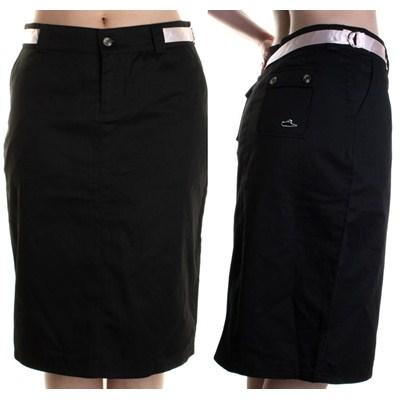Inez Knee Skirt - Black