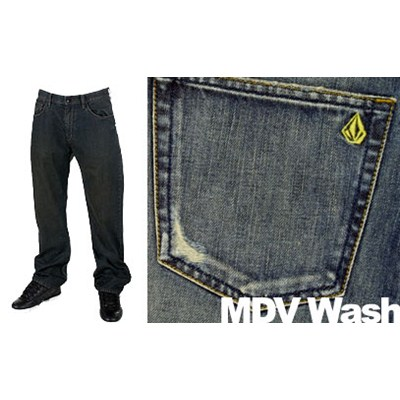 Black Zip MDV Wash Jeans