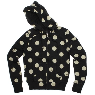 Big Dot Black Girls Zip Hoody