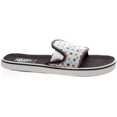 Classic Slide Coffee/Walnut Dot Girls Sandals