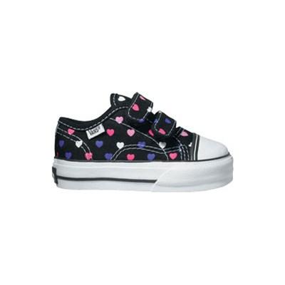 Big School Black/Hyacynth Polka Hearts Kids Shoe