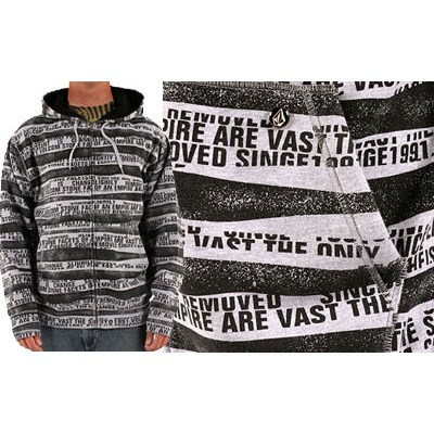 Type Stripe Zip Hoody