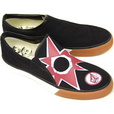 VS1 Creedler Stone Age Star Black Canvas Slip-On Shoe