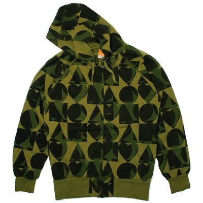 Hot Fad Army Zip Hoody