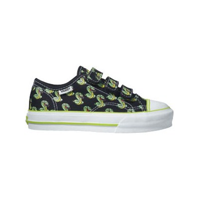 Big School (Cobra Multi Print) Black/Bright Lime Green Kids Shoe