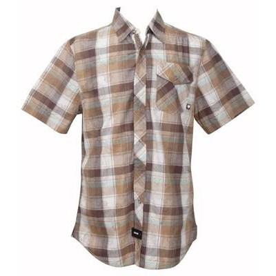 Hells Kitchen Woven S/S Shirt - Taffy Brown