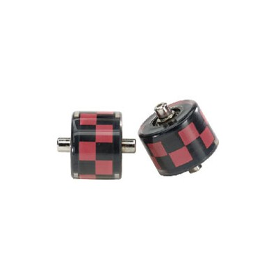 Check Red/Black 'Fats' Abec 5 Wheels
