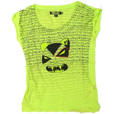 Natcho Bear S/S Sheer Tee - Lime