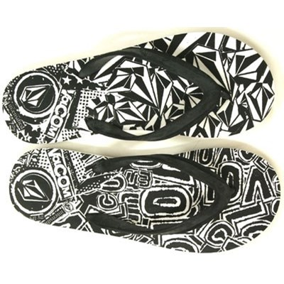 New Stone White/Black Creedler Sandals