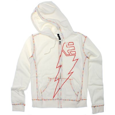 Strike Zip Hoody - White