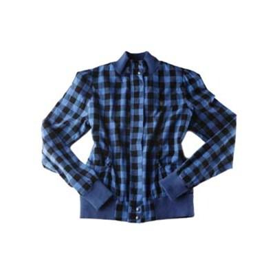 Tulip Blue Plaid Jacket