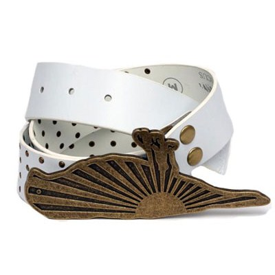Roseland White Leather Belt