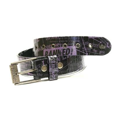 Headlines Black/Violet Belt