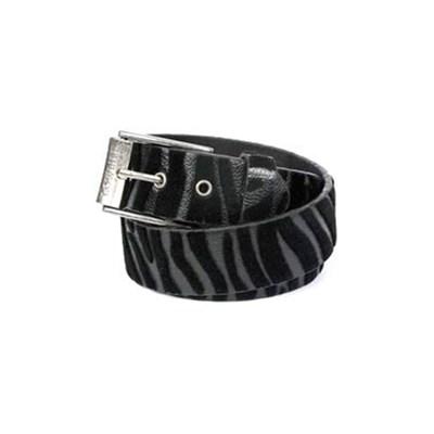Cat Black/Black Fur Belt