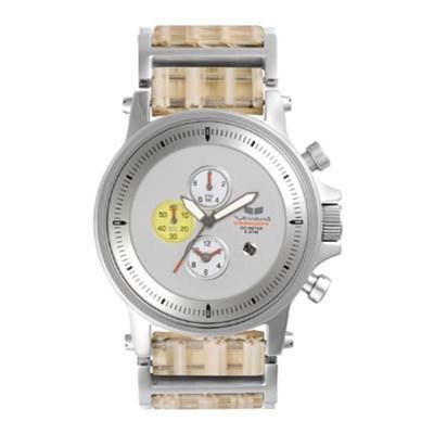 Plexi Acetate Silver/Silver/Yellow/White Men's Watch PLA010