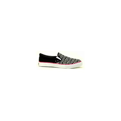 Game Over Slip on Black/Red Shoe