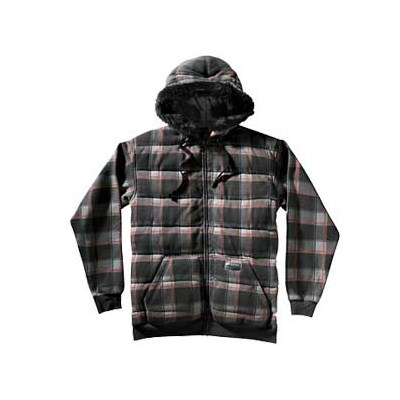 Asher Furhood Black Plaid Zip Hoody