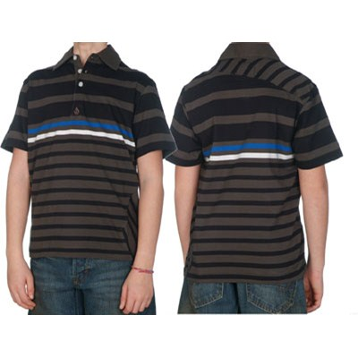 Blockage Youths S/S Polo Shirt - Charcoal
