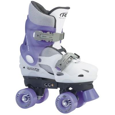 Trans 400  White/Lilac Quad Roller Skates
