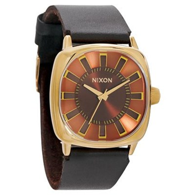 The Revolver Watch - All Gold/Brown - SALE - 40% Off