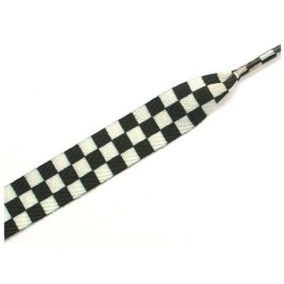 11401 Checker White/Black Thick Laces