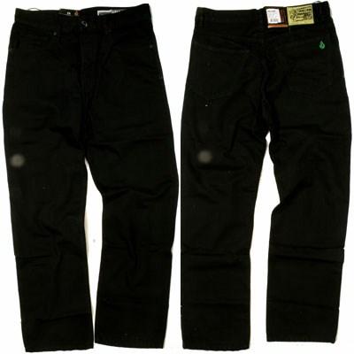 Black Zip Brown Wash Jeans