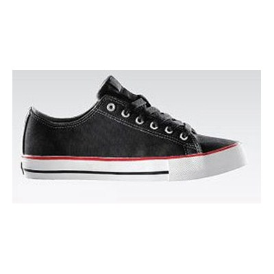 The Classic Black/Red Canvas Shoe