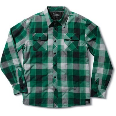 Powder Keg Kelly Green Flannel Long Sleeve Shirt